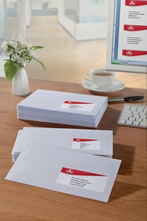 Avery witte etiketten QuickDry ft 63,5 x 33,9 mm (b x h), 2.400 stuks, 24 per blad