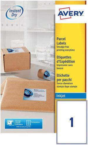 Avery Etiketten Inkjet ft 119,6 x 289,1 mm (b x h), 1 etiket per vel, 25 etiketten per doos