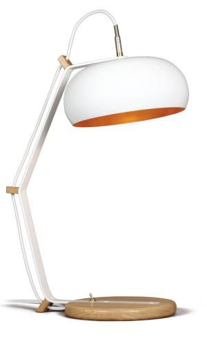 Bureaulamp Rhoda TBL Lampari wit - interieur goud