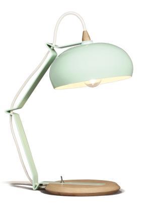 Bureaulamp Rhoda TBS Lampari groen - interieur wit