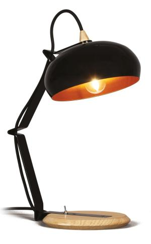 Bureaulamp Rhoda TBS Lampari zwart - interieur koper