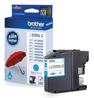 Brother inkt cartridge LC-225XLC Cyan