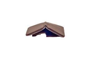 Medium zipper wallet bruin portefeuille