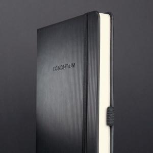 Notitieboek Sigel Conceptum Pure hardcover A5 zwart gelijnd