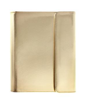 Filofax SAFFIANO wrap tablet case goud Apple iPad 2,3,4
