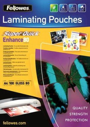 Fellowes SUPERQUICK LAM POUCH 80MICA4 10