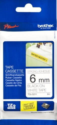 Brother P-Touch tape TZe-S211 - 6 mm Bla