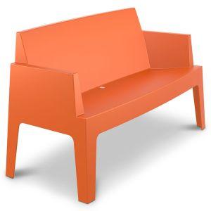 Terrasbank Box tweezit in kuipvorm oranje