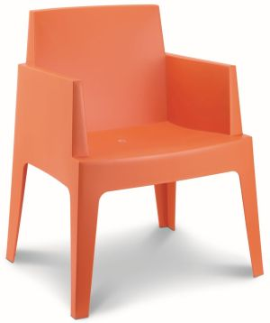Terrasstoel Box kuipvorm oranje