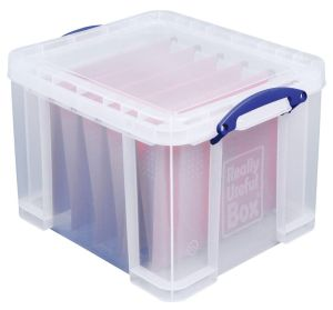 Really Useful Box 35 liter, transparant