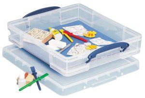 Really Useful Box opbergdoos 7 liter met divider, transparant
