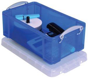 Really Useful Box opbergdoos 9 liter, transparant blauw