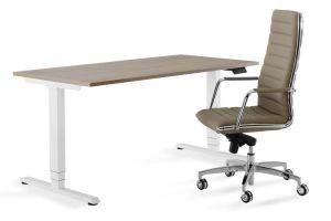 Bureau debout flex el dessus de table blanc pied de