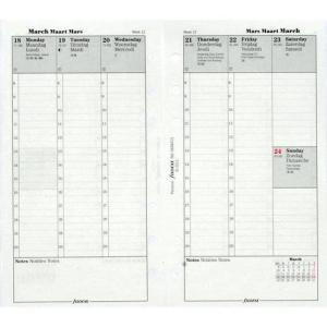 Filofax organiser vulling Personal week per 2 pagina's