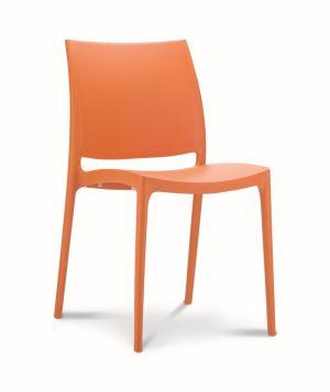 Kantinestoel / terrasstoel Maya oranje