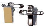 Badgy kleefbare clips met veiligheidspin