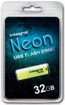 Integral USB NEON 32GB geel