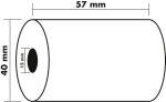 Exacompta thermische rolletjes 57x40x12x