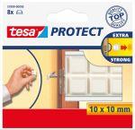 Tesa beschermblokjes, vierkant, 10x10 mm