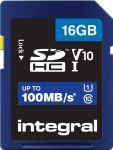 Integral geheugenkaart SDHC, 16 GB