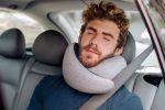 Ostrichpillow Go, premium neck travel pillow, midnight grey