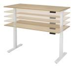 Zit-sta tafel elektrisch 120 x 80 cm havanna blad antr. voet