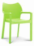 Kantinestoel / terrasstoel Diva met armleuningen groen