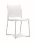 Chaise de cantine / chaise de patio Maya blanc