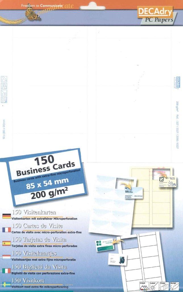 Decadry Cartes De Visite MicroLineft 85